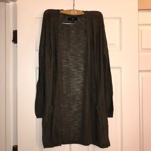 Mossimo Olive Long Cardigan XS